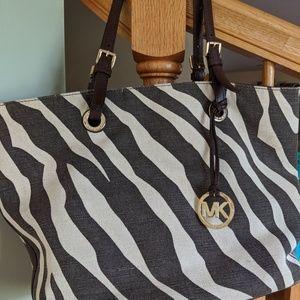 Zebra stripe Michael Kors purse